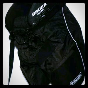 BAUER 4000 Jr Dri-Fit Hockey Pants Pads Size Large